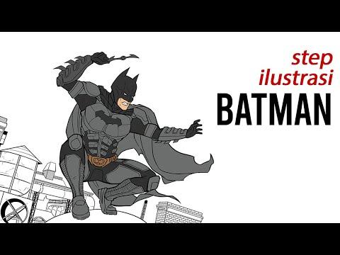 Batman Illustration Slide Sketch To Digital Process Youtube