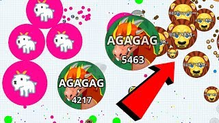 Agar.io Pro Team vs Team Dominating Compilation Mobile Best Moments Gameplay