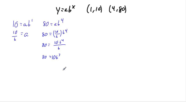 Writing equations as yabx youtube writing equations as yabx falaconquin