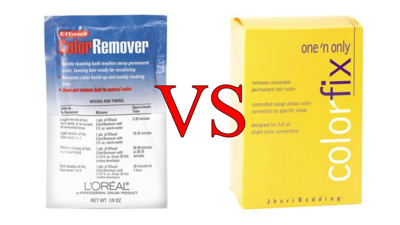 L Oreal Effasol Color Remover Vs One N Only Color Fix Color Remover Review Demo Youtube