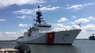 Coast Guard Cutter James returns home