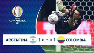 HIGHLIGHTS ARGENTINA 1 (3) - (2) 1 COLOMBIA | COPA AMÉRICA 2021