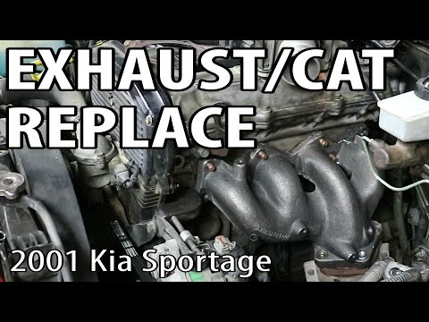 Kia Sportage Exhaust Manifold & Catalytic Converter Replacement