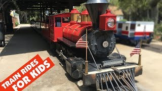 KIDS TRAIN RIDE at Griffith Park & Southern Railroad Los Angeles California || Keith