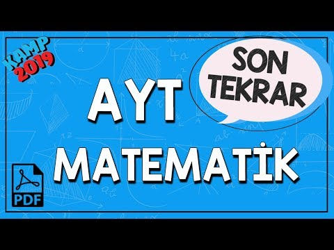 AYT Matematik Son Tekrar | Kamp2019