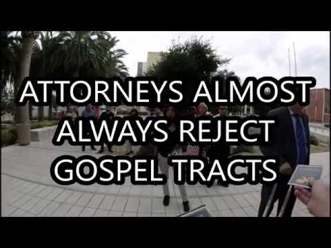 Attorneys almost always reject the Gospel tract