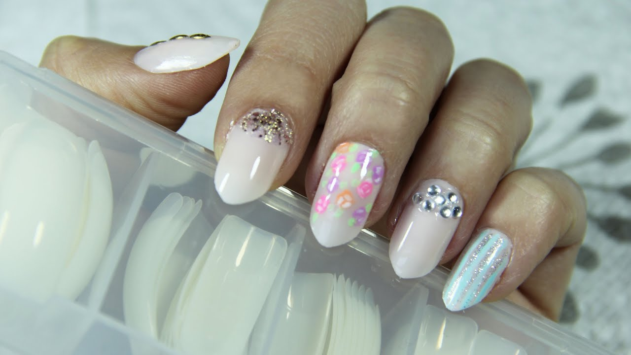 Diy easy stiletto nails for spring elle levi youtube solutioingenieria Image collections