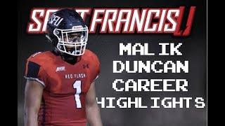 "Malik Duncan Official Saint Francis Career Highlights - ""Ballhawk"" ᴴᴰ"