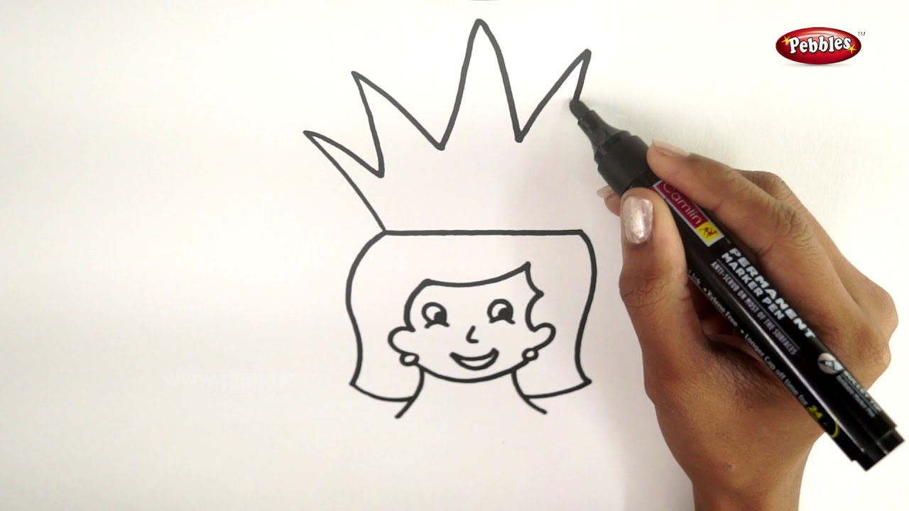 Drawing step by step how to draw a queen learn drawing for beginners drawing basics kids