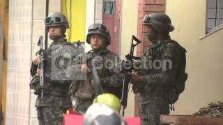 BRAZIL: MILITARY POLICE INCREASE PATROL IN FAVELAS