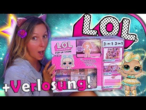 LOL Surprise POP UP STORE 🏠 + VERLOSUNG 😍 LOL Haus zum Mitnehmen auspacken 💖 deutsch
