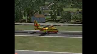 FSX- Canadair CL215-Erickson_S64E-Missione Antincendio