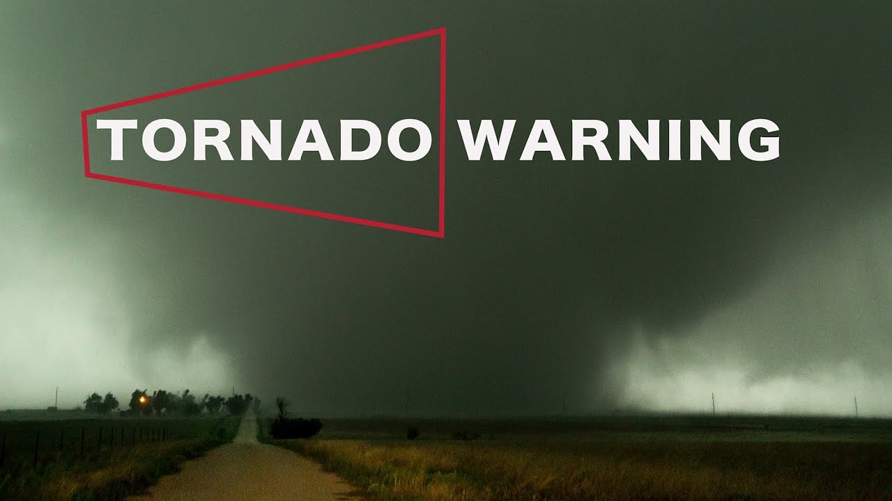 Tornado Warning Close Call With Rain Wrapped Beast