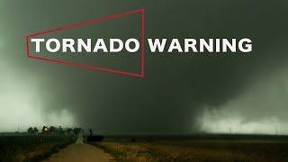 TORNADO WARNING CLOSE CALL - With Rain Wrapped Beast!