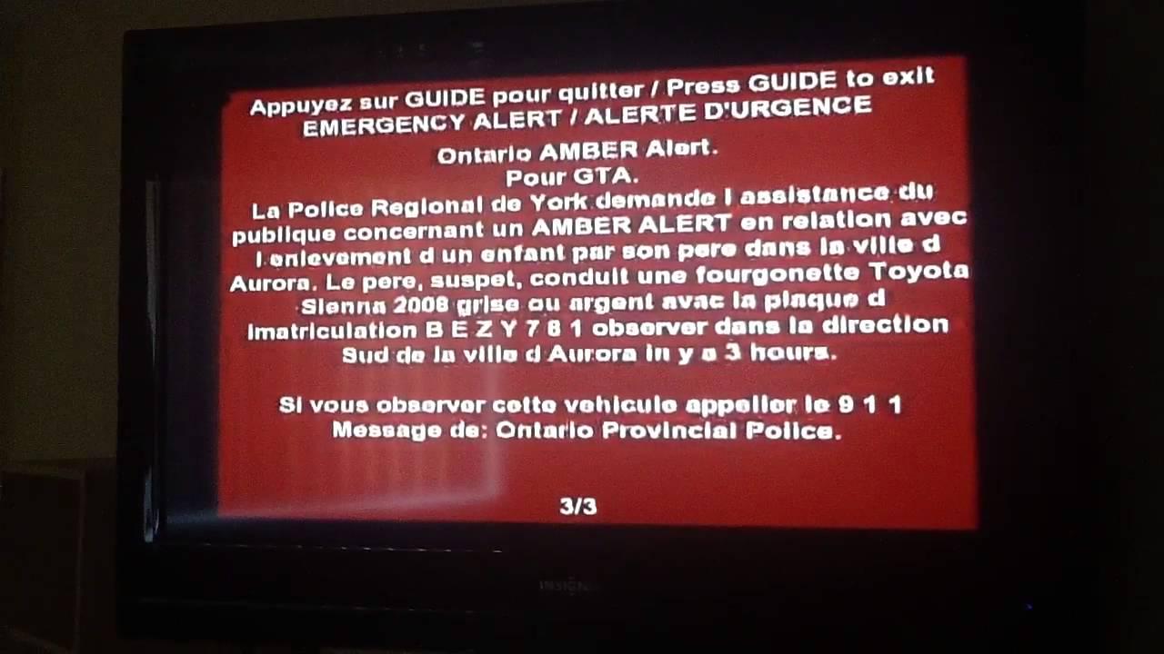 Ontario Amber Alert Very Scary Tones Youtube