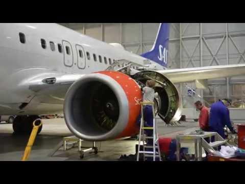 SAS - B737, Engine replacement
