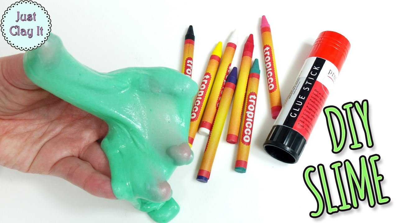 Diy Slime With Wax Crayons! Glue Stick Slime Without Borax