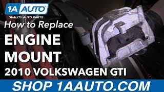 Hoe te Vervangen Passagier Motor-steun 2010 Volkswagen GTI