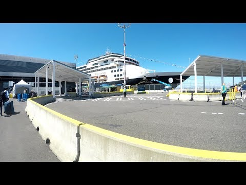 Seattle Cruise Port Terminal Pier 91 (Smith Cove) Boarding Cruise Ship to Alaska (4K)
