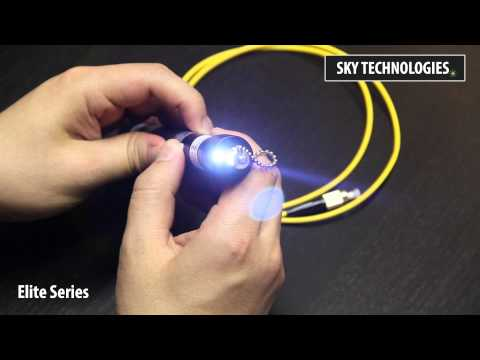 20mW - 50mW Visual Fault Locator   Fiber Optic Cable Tester   Elite Series by SKY Technologies Inc.