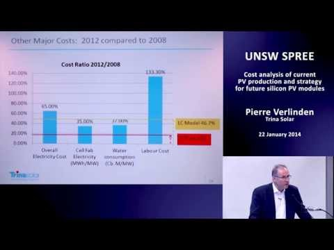 UNSW SPREE 201401-22 Pierre Verlinden - Cost analysis of current PV production