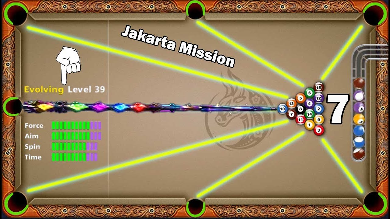 8 ball pool Jakarta Mission 😃 level 39 Bismuth Cue 15× Pieces