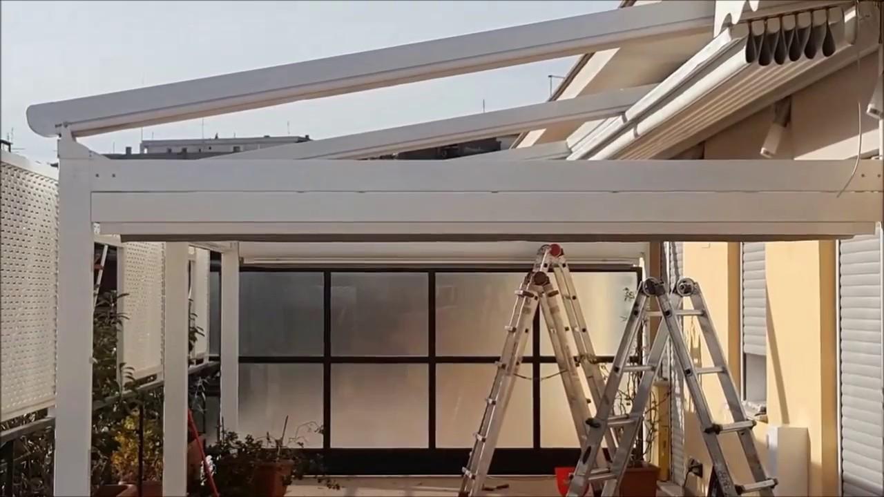 Costo Veranda In Pvc esempio installazione pergotenda - youtube