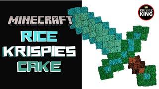 MINECRAFT Diamond Sword RICE KRISPIES Cake!