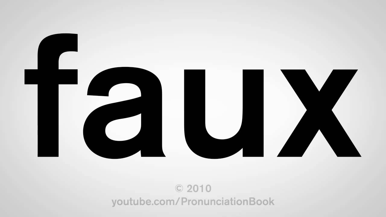 How To Pronounce Audi >> How To Pronounce Faux - YouTube