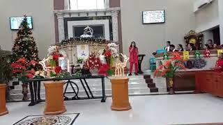 Pujian Anneth Delliecia Nasution,  Ibadah Natal GMIM Sion Winangun-Manado 25 Desember 2018