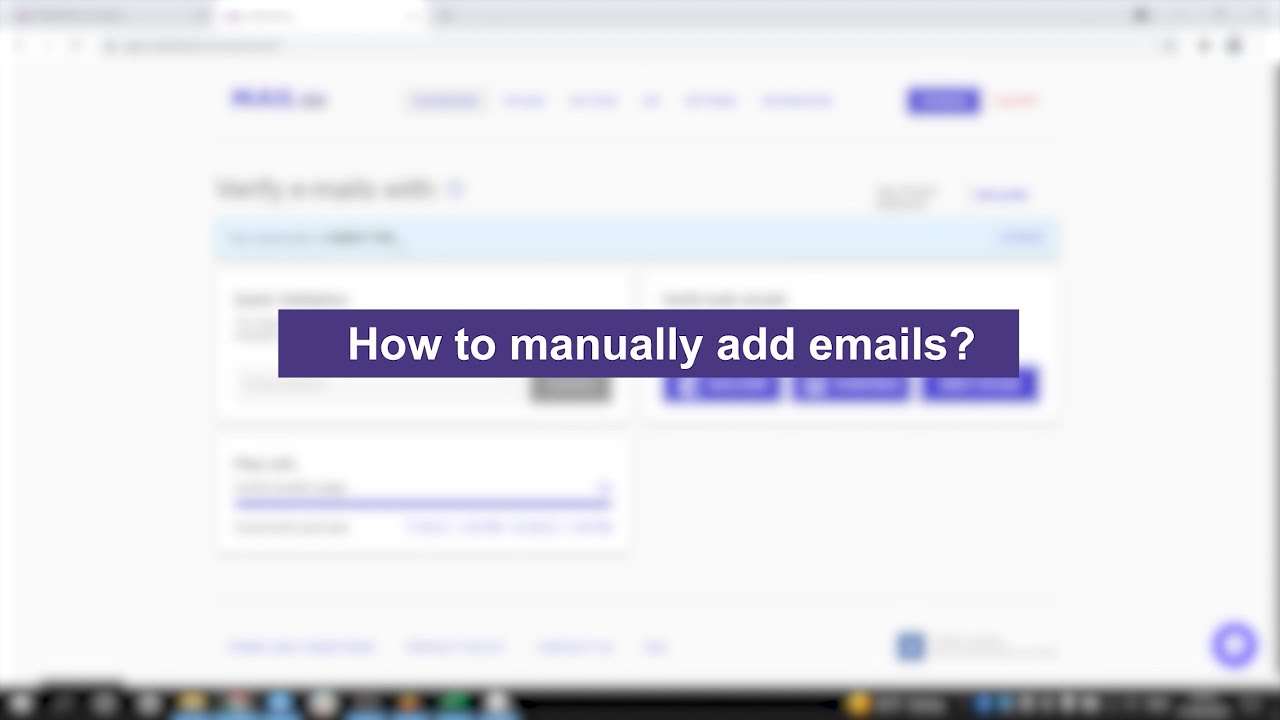 How to manually add emails?