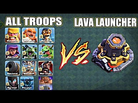 ALL MAX TROOPS VS LAVA LAUNCHER🔥 || BUILDER BASE 9 || XYRO GAMING COC ||