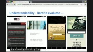 English Google Webmaster Central SMB site-clinic