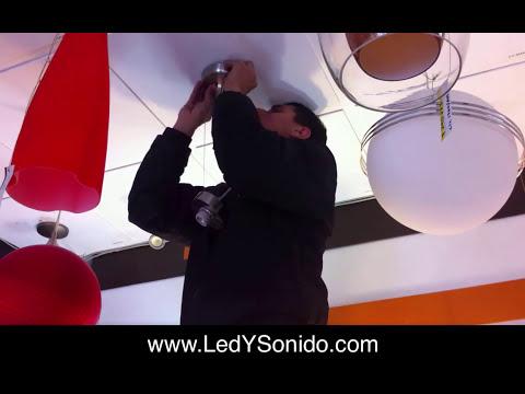 Como instalar una lampara de techo tecnolite - Como poner una lampara de techo ...