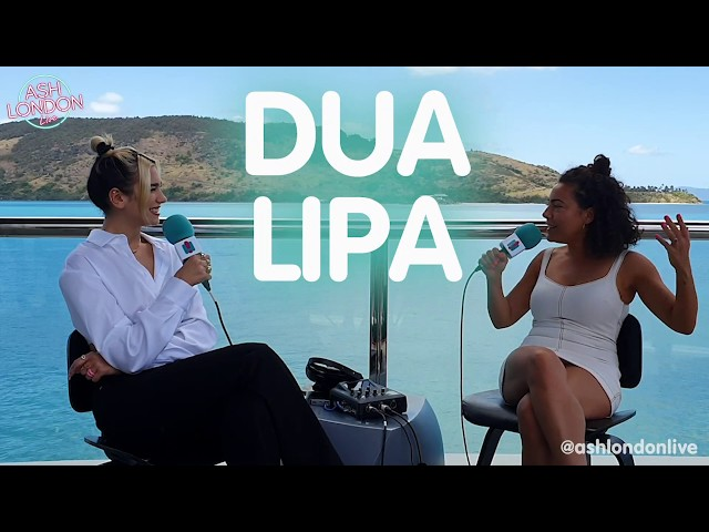 DUA LIPA Talks Album Release, Fears About New Music + More | Ash London LIVE