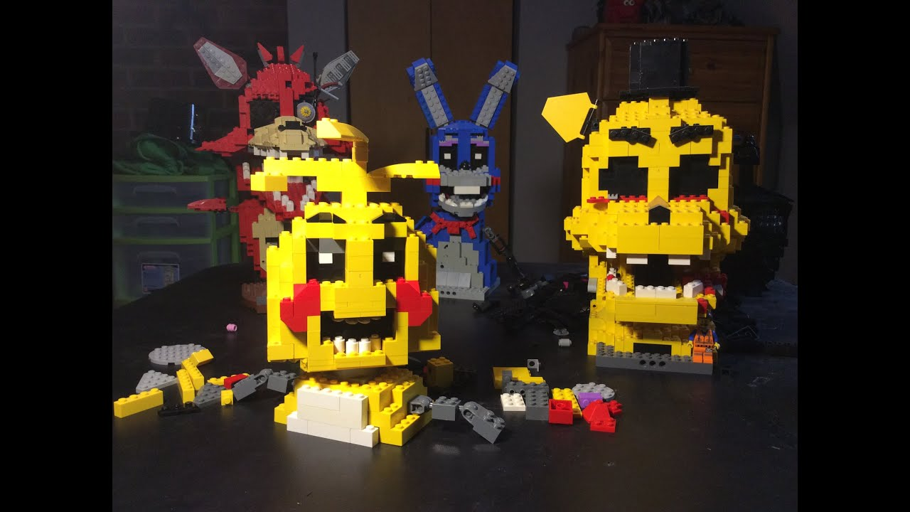 Lego 5 Nights At Freddy S Toys : Lego five nights at freddy s toy chica wip youtube