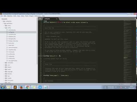 Cara Setting Codeigniter