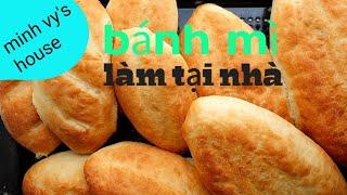 #34 cách làm bánh mì việt nam- 베트남 바게트 (반미) 만들기 - ăn cùng heo quay làm tại nhà