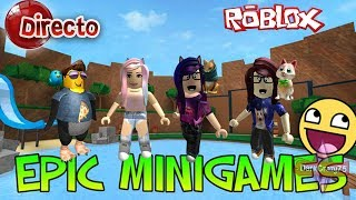 🔴 direct | ROBLOX with DarkCrazy75, LoftyGecko, Fritosaurio, Mia Zaff and Dany | EPIC MINIGAMES