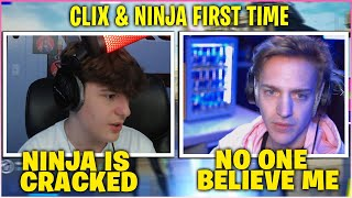 CLIX & NINJA *TEAMS UP* For The FIRST TIME In Ninja Battles Then This Happened (Fortnite)