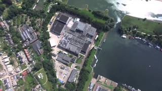 Arial footage of KEMA Laboratories in Arnhem, the Netherlands