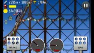 Hill Climb Racing: 3918 meters on Roller Coaster