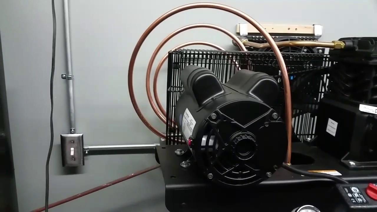 Kobalt 60 gallon air compressor intercooler setup