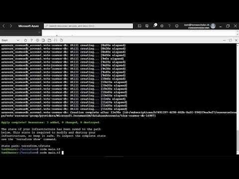 Azure Tip: Mit Terraform in Azure eine Cosmos DB für eine Container Instanz bereitstellen