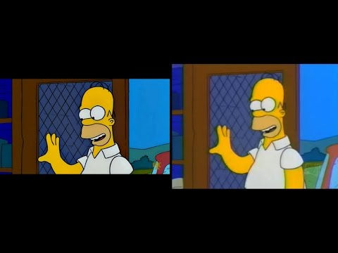 The Simpsons vs. The History of TV Cropping