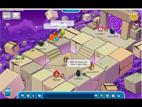 Club Penguin- How to get the Portal Box  and What is the Box Dimension