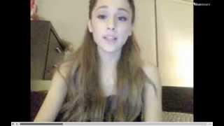 Ariana grande twitcam 22 August 2013 Part 1