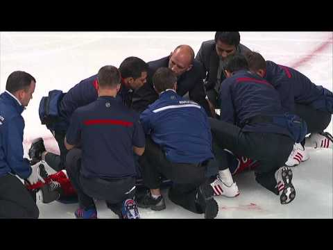 George Parros vs Colton Orr 2nd fight & injury Toronto Maple Leafs vs Montreal Canadians 10/1/13 NHL