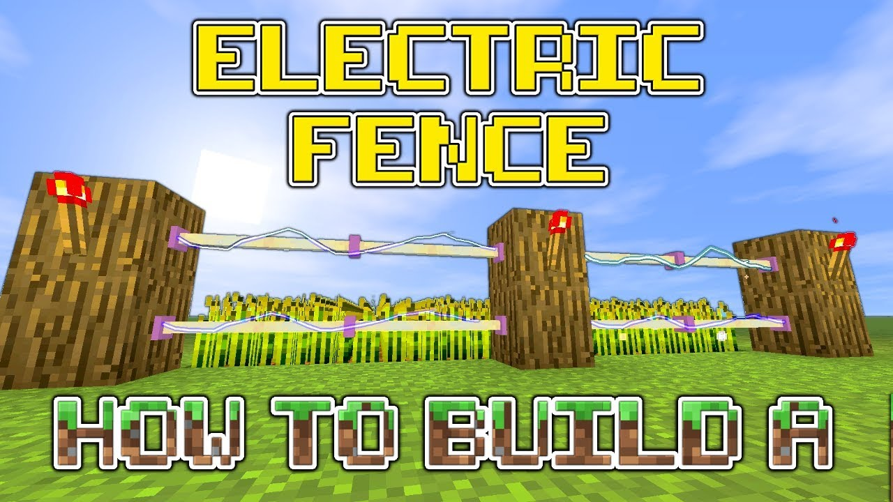 minecraft how to build an awesome electric fence youtube. Black Bedroom Furniture Sets. Home Design Ideas