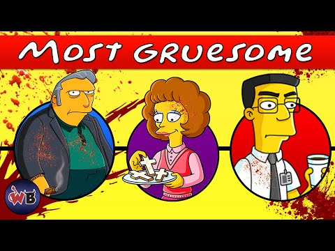 The Simpsons Deaths: Gruesome to Most Gruesome ☠️